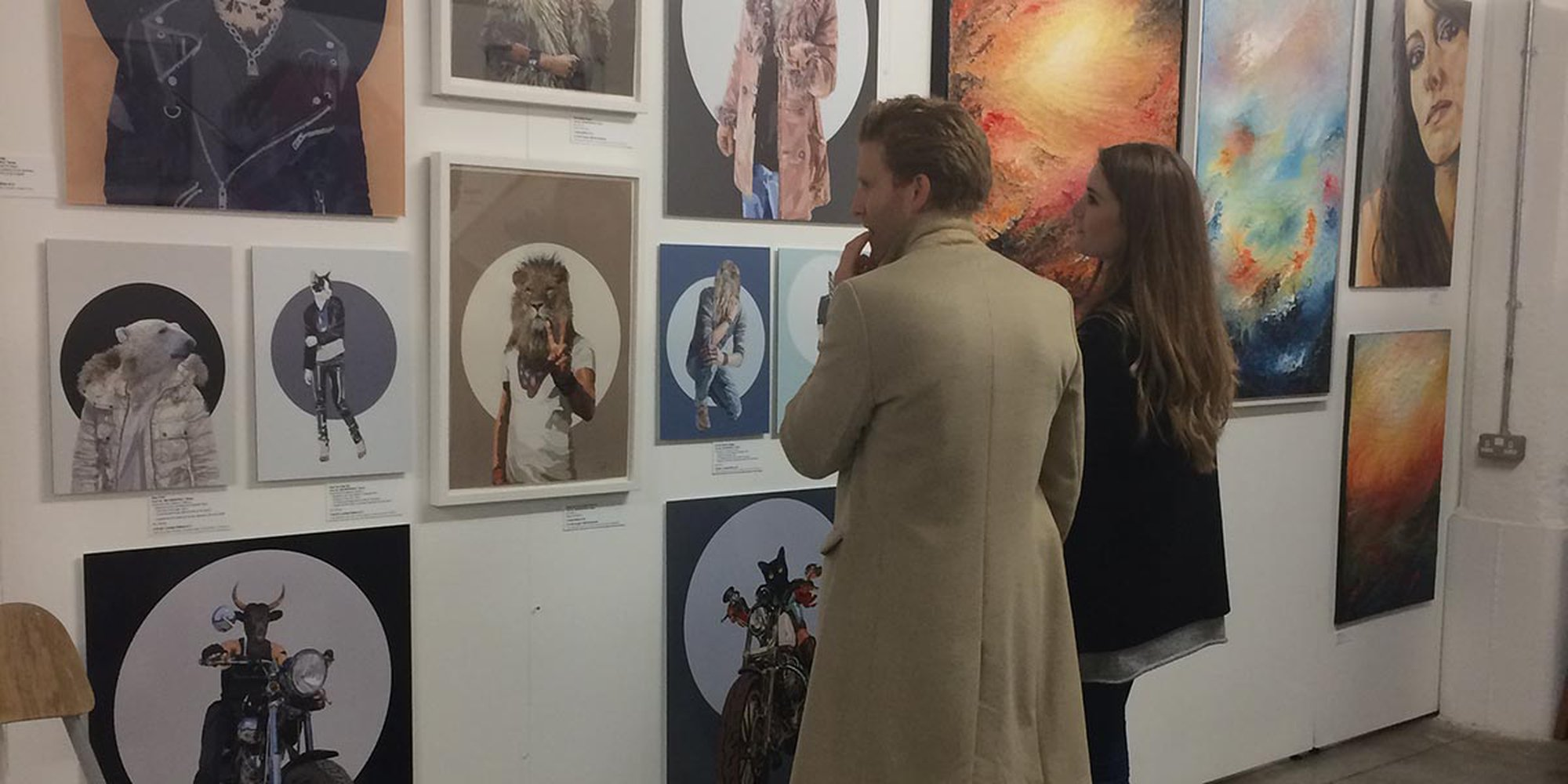 Metamorphica & the Danse Macabre prints on display at the Talented Art Fair in 2018