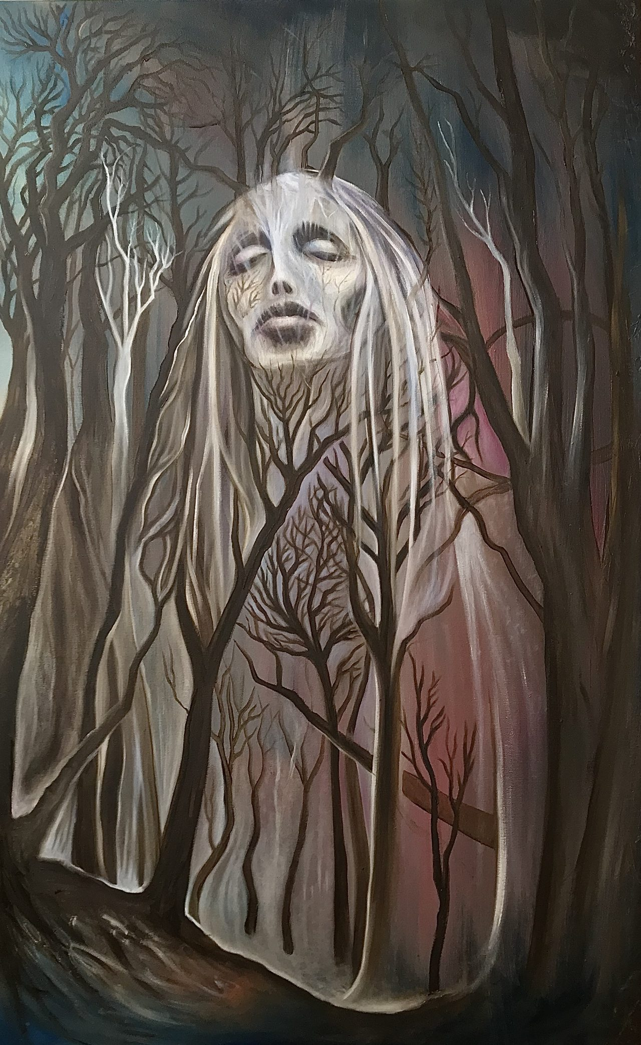 A Wilderness of Ghosts | Oil on canvas | 76 x 122 cm | 2020