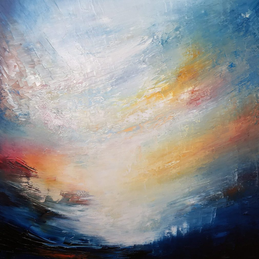 Aether World One | Oil on canvas | 100 x 100 cm | 2019