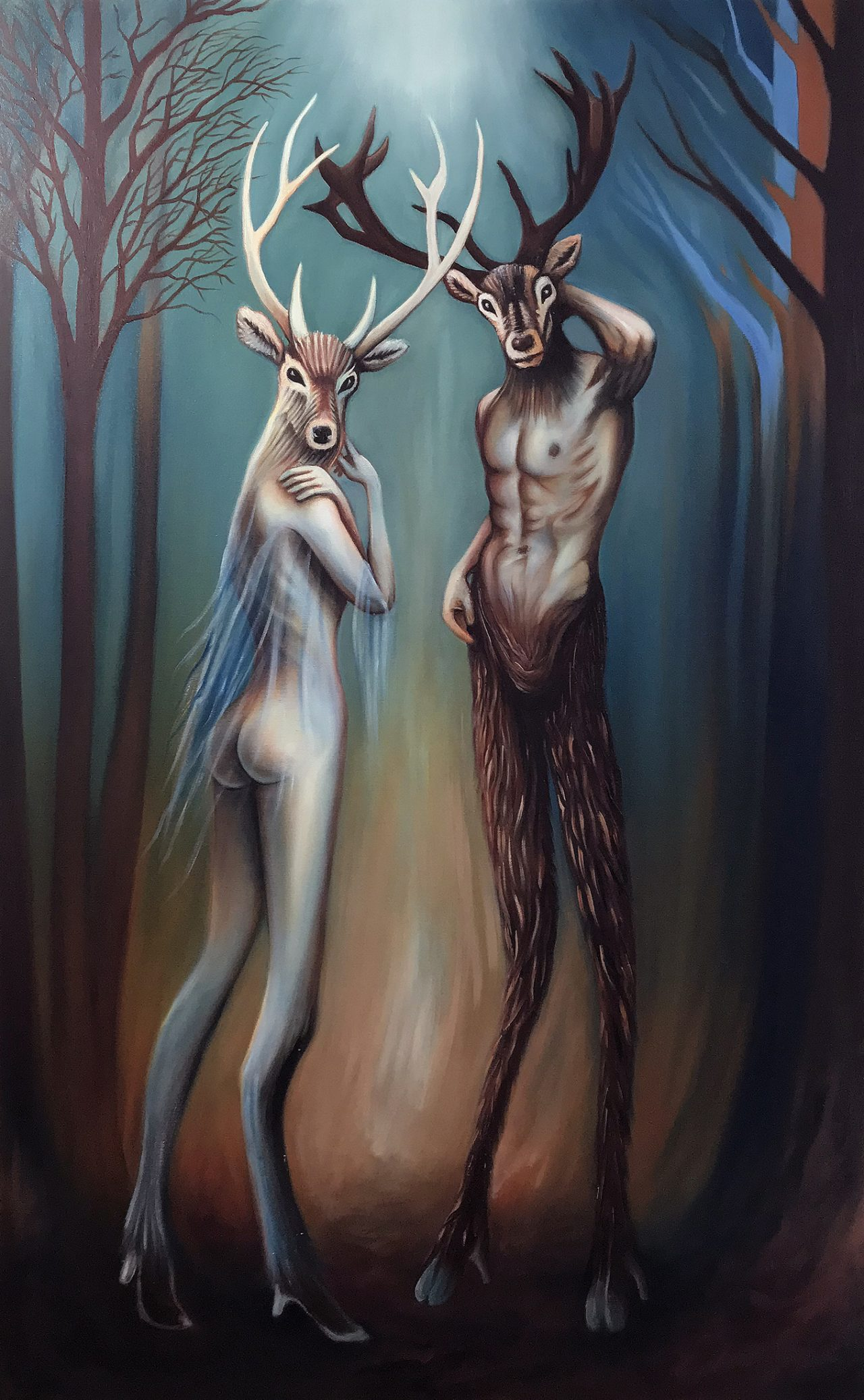 Exiles In Eden | Oil on canvas | 76 x 122 cm | 2020