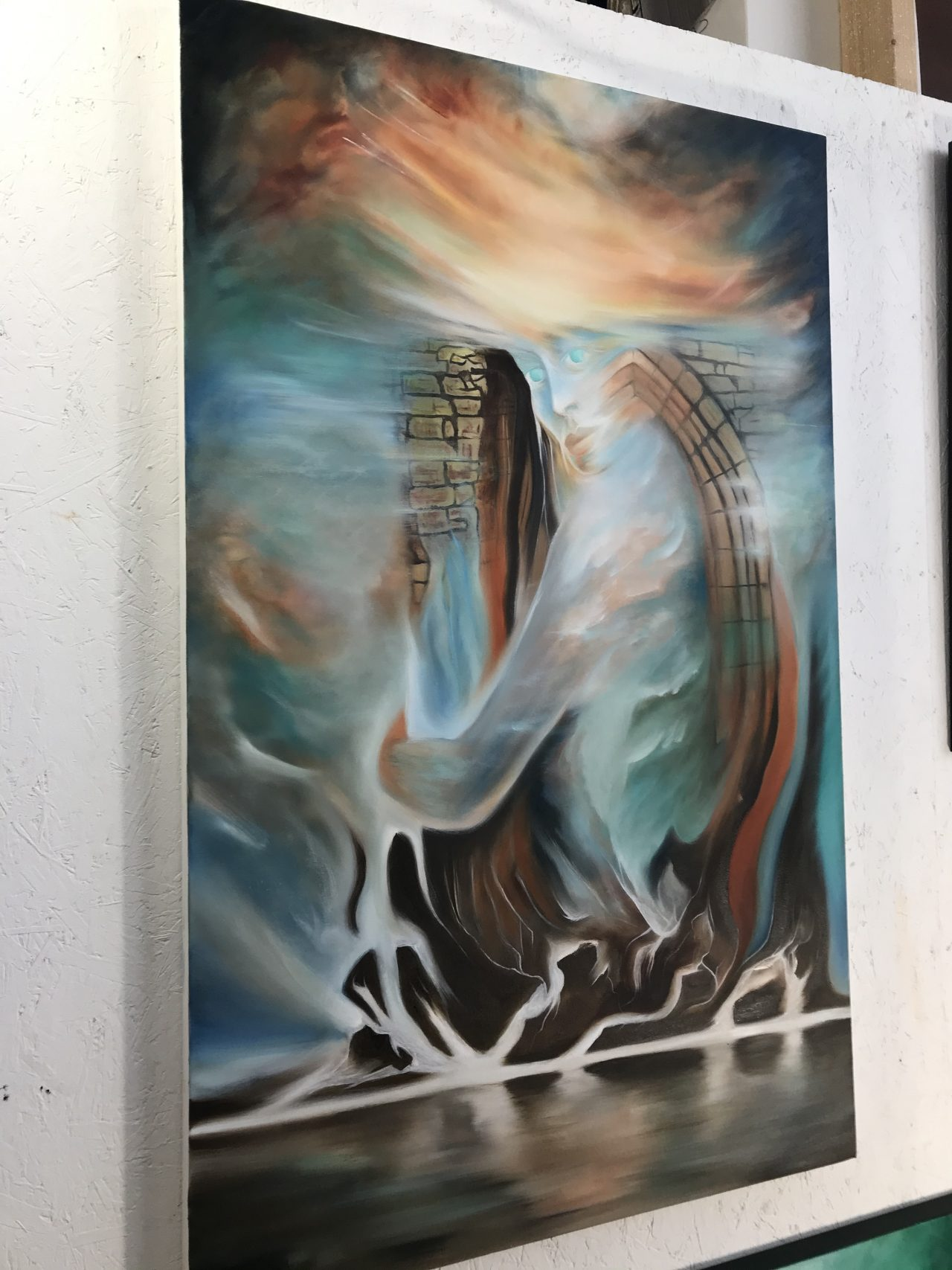 Surreal oil painting in the UK