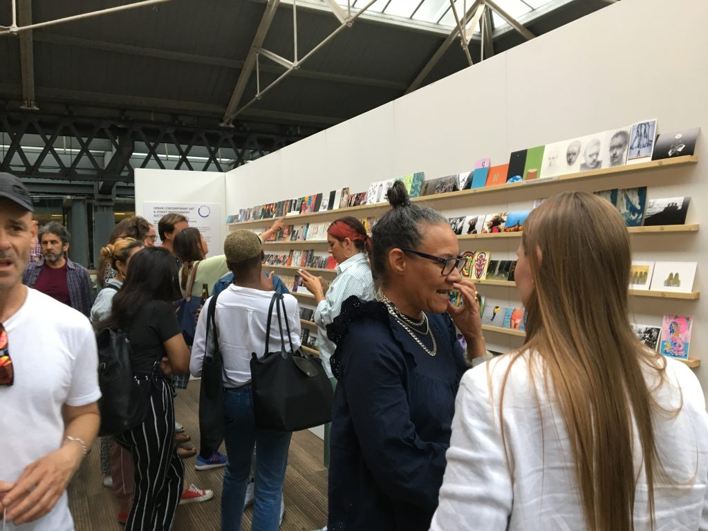 Art on a postcard exhibition and Auction at Spitalfields Market, London, July 2019