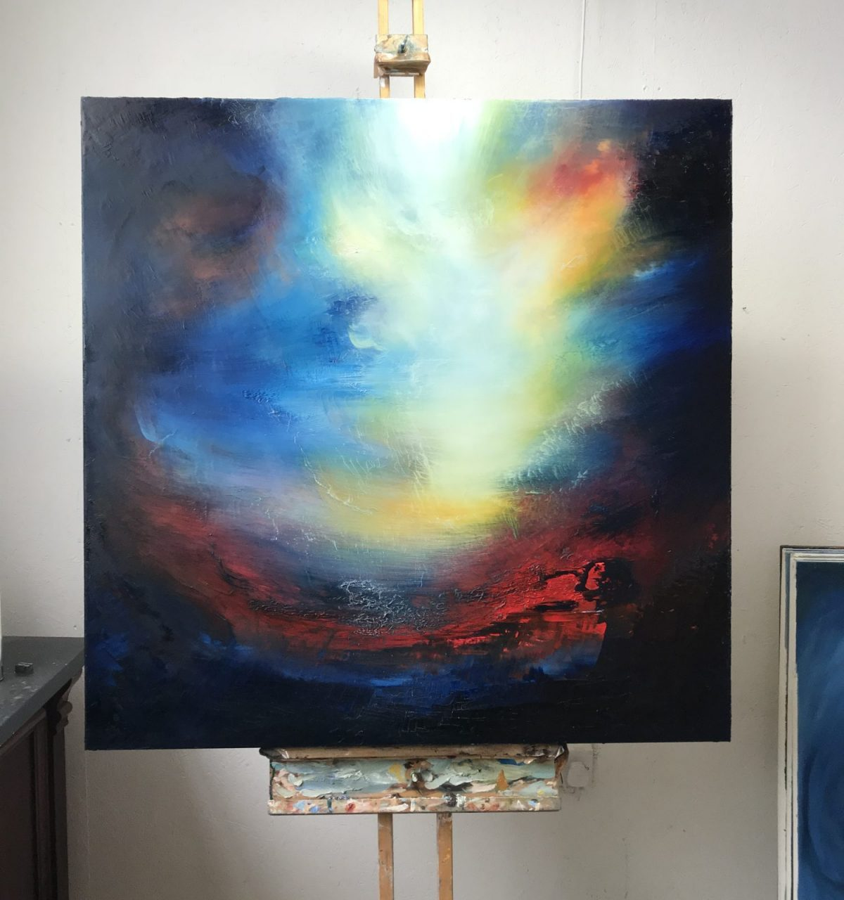Dionysia oil painting in the Aether Worlds series