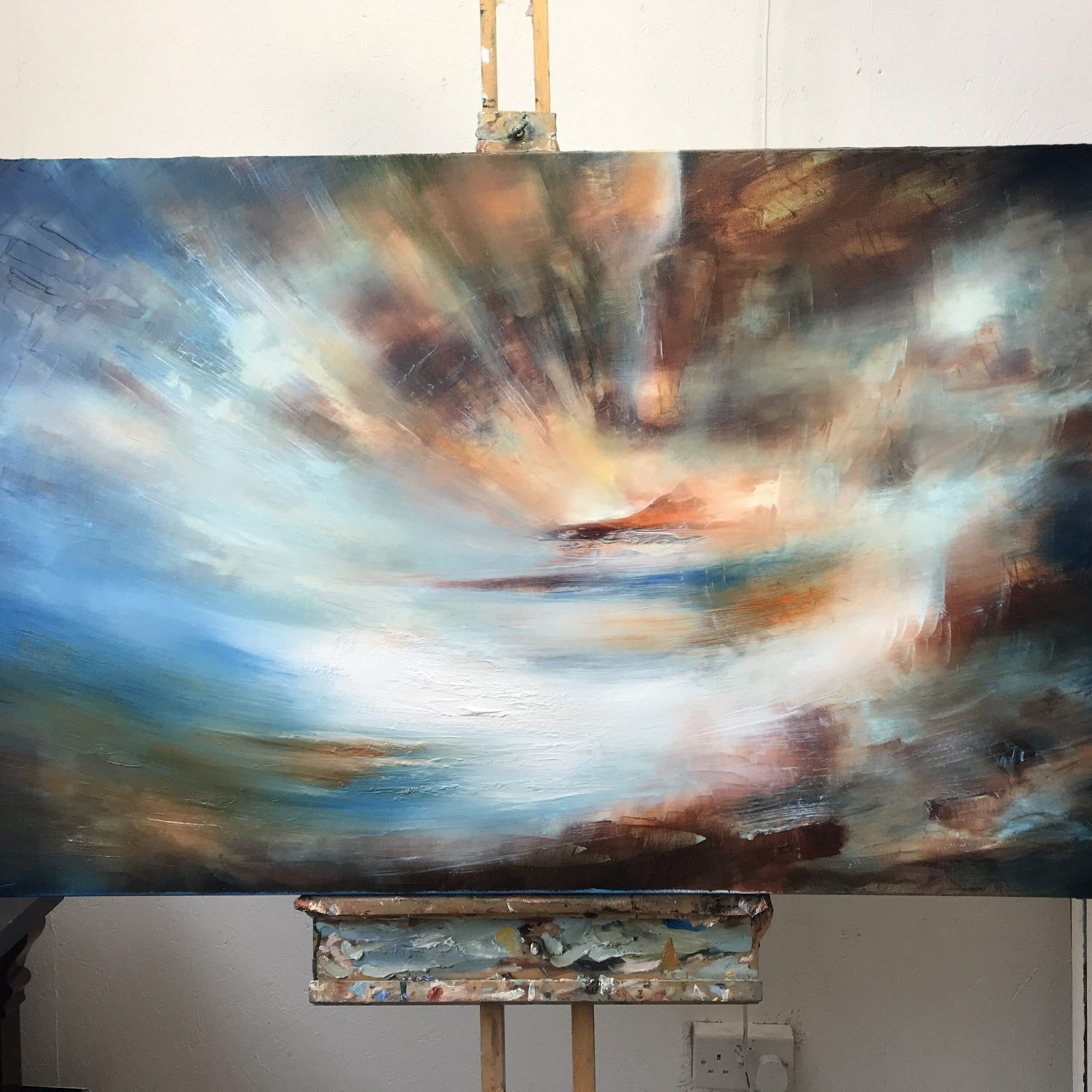 The World Beyond - abstract landscape painting by Paul Kingsley Squire
