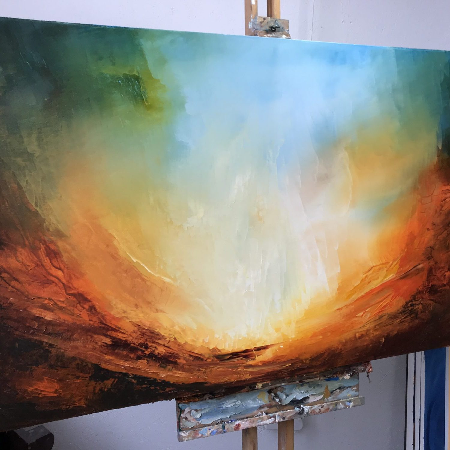 Equinox - abstract landscape painting by Paul Kingsley Squire