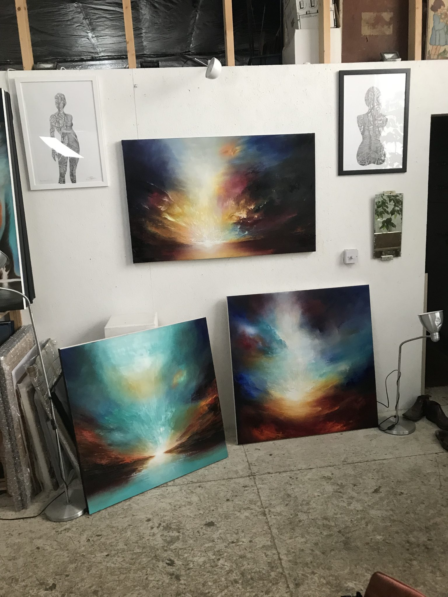 Abstract landscape oil paintings for the sale in London, UK