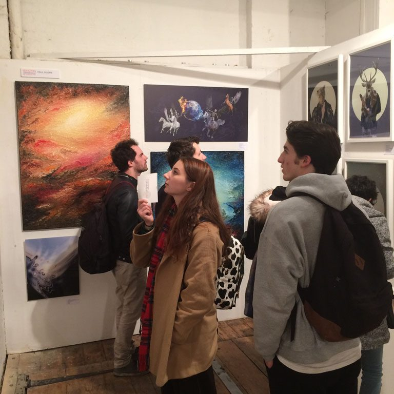 Islington art and design fair 2016 at the Candid Galleries, Angel