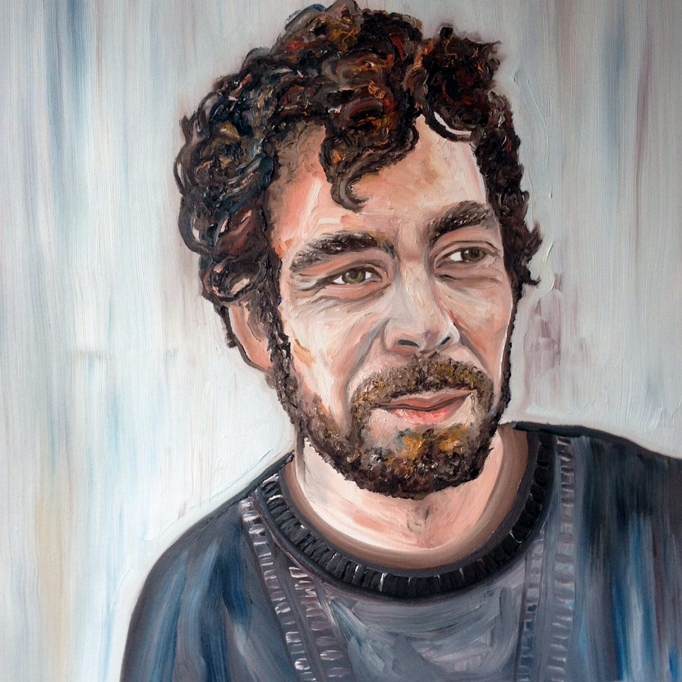 Pedro - oil on canvas portrait by Paul Squire