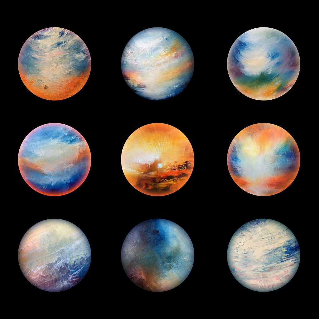 The first nine planets from the aether worlds