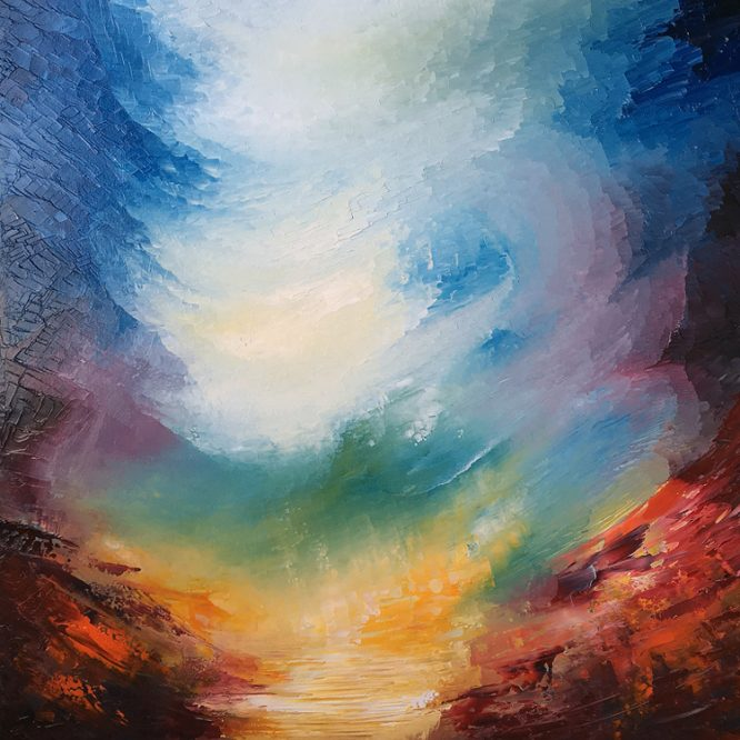 Aether Worlds | Abstract Landscape paintings