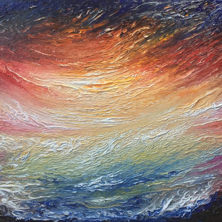 Alcyone   Oil on canvas   101 x 76 cm