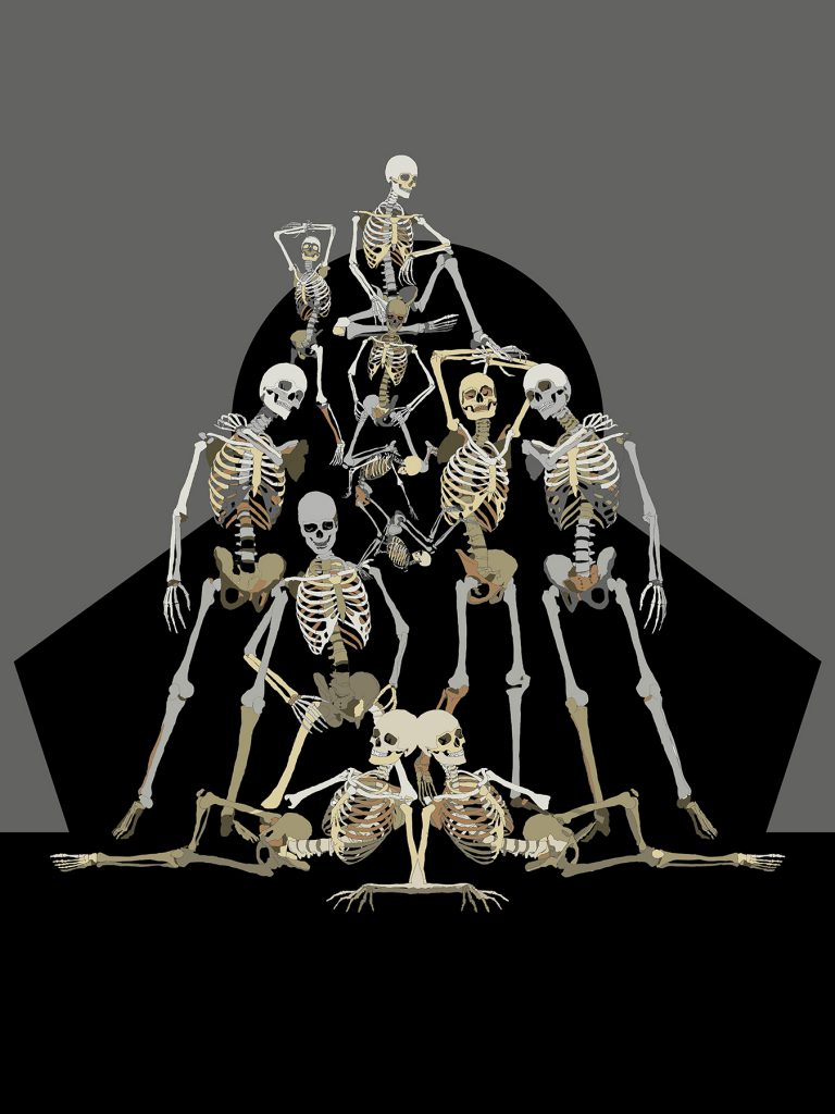 An Idol of Bones - Digital artwork from the Metamorphica series by Paul Kingsley Squire