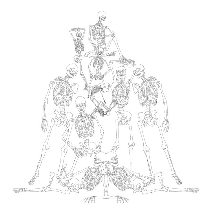 An Idol of Bones - line drawing