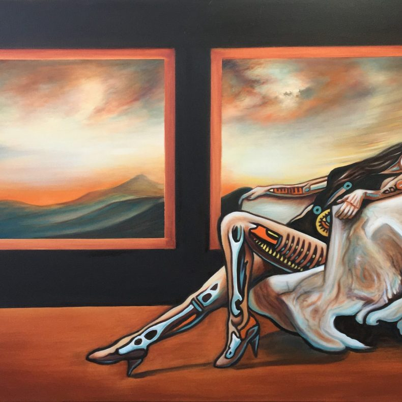 Andromeda   Oil on canvas    122 x 76 cm   2020