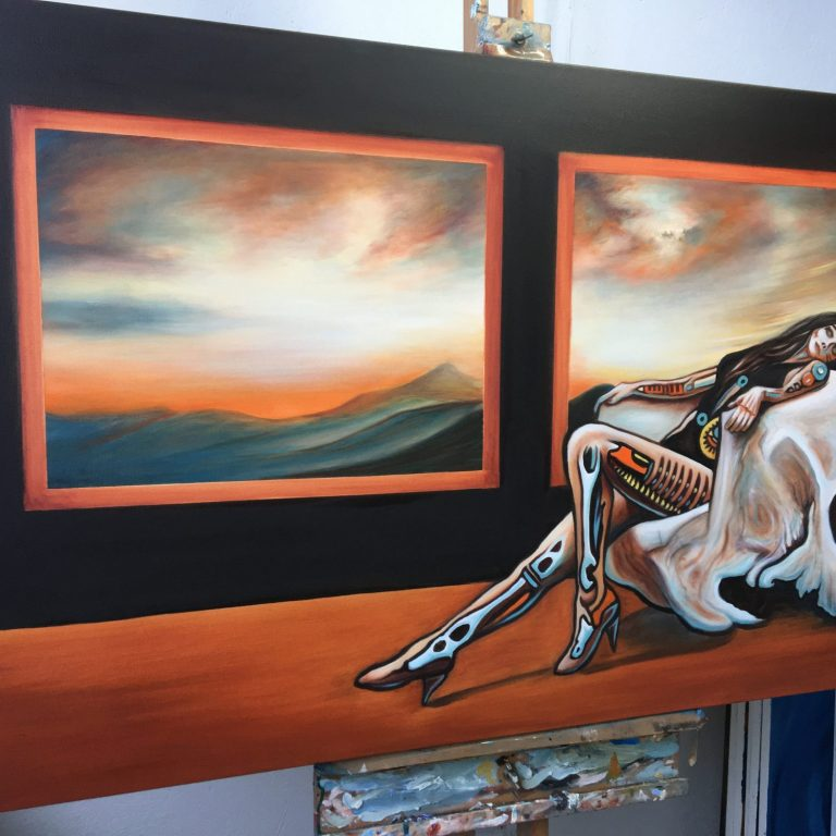 Andromeda - on the easel