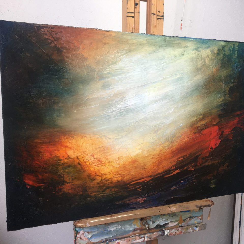 Aresia oil painting in the Aether Worlds series