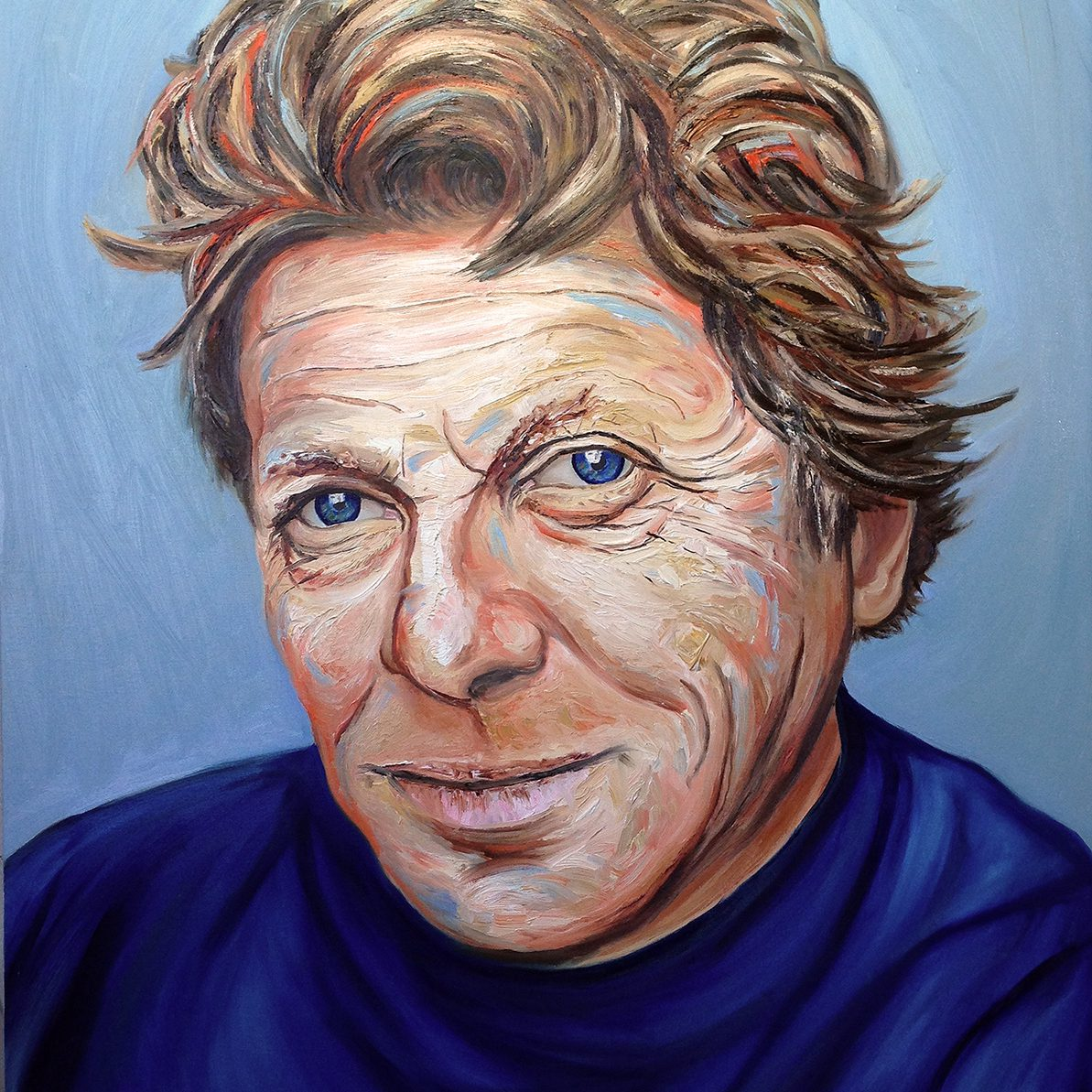 The Sculptor | Portrait of the sculptor Ben Dearnley | Oil on canvas | 96 x 122 cm