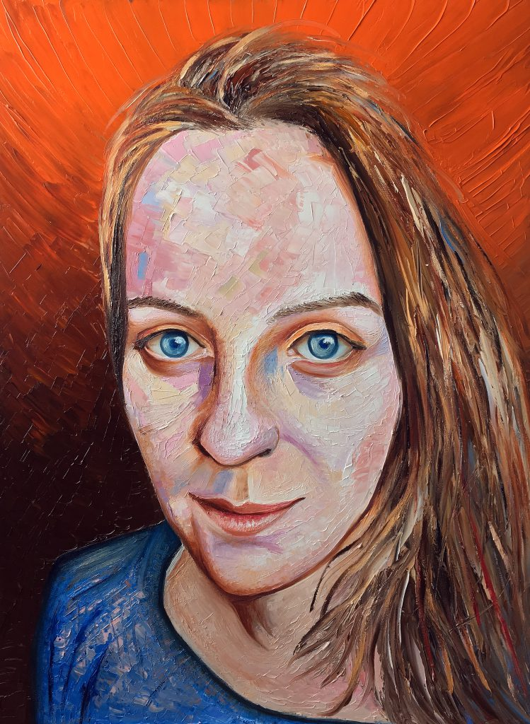 Bernadette | Oil on canvas | Palette Knives and Brushes | 76 x 101 cm | 2019
