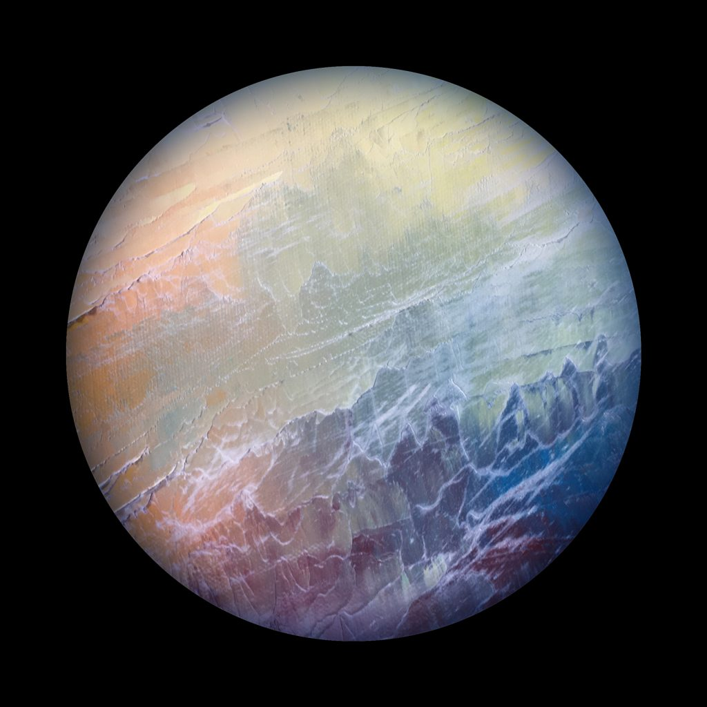 Urania planet - from the Aether Worlds series of digital prints