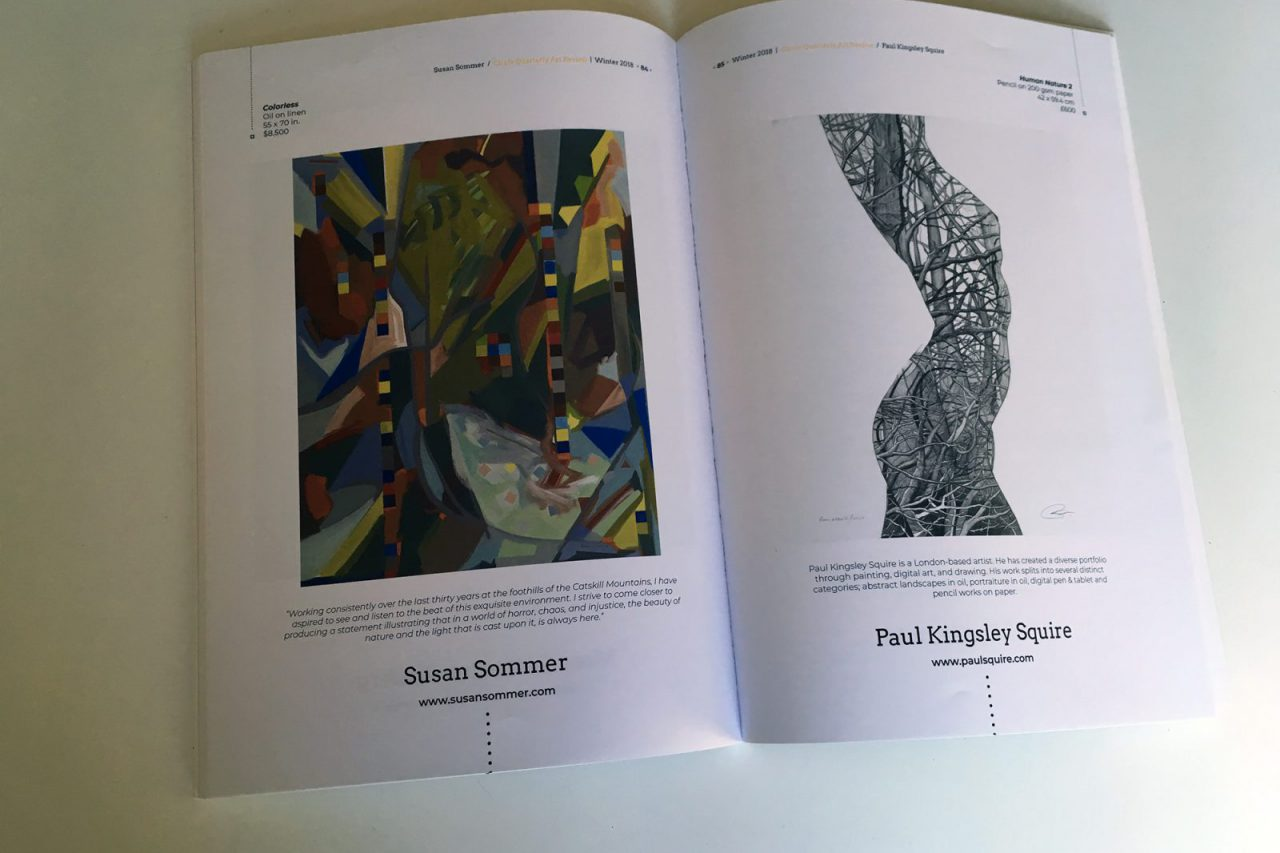 Paul Kingsley Squire featured art in Circle arts magazine