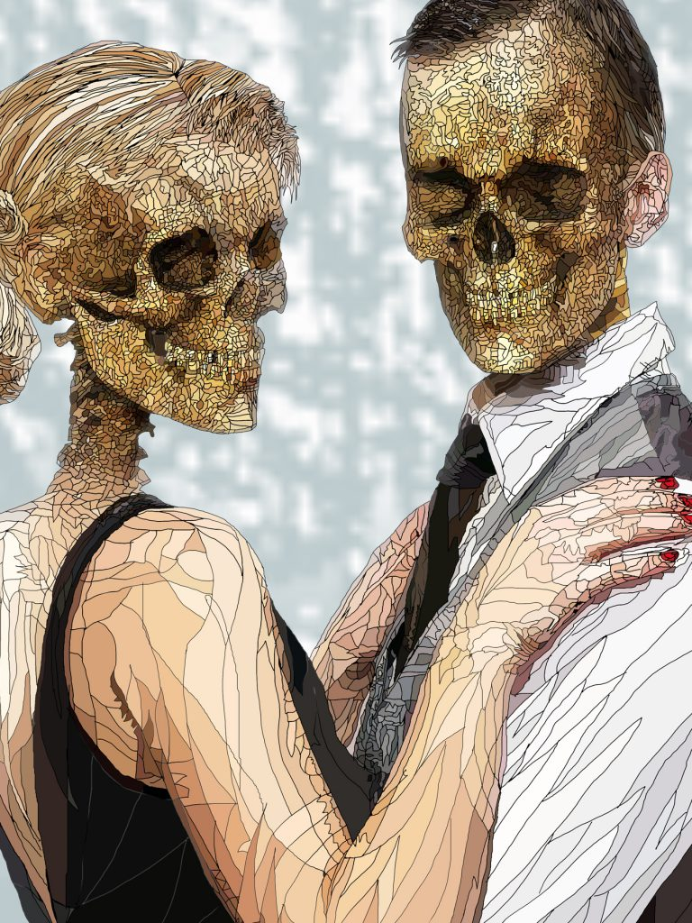 Danse Macabre couple (close up)