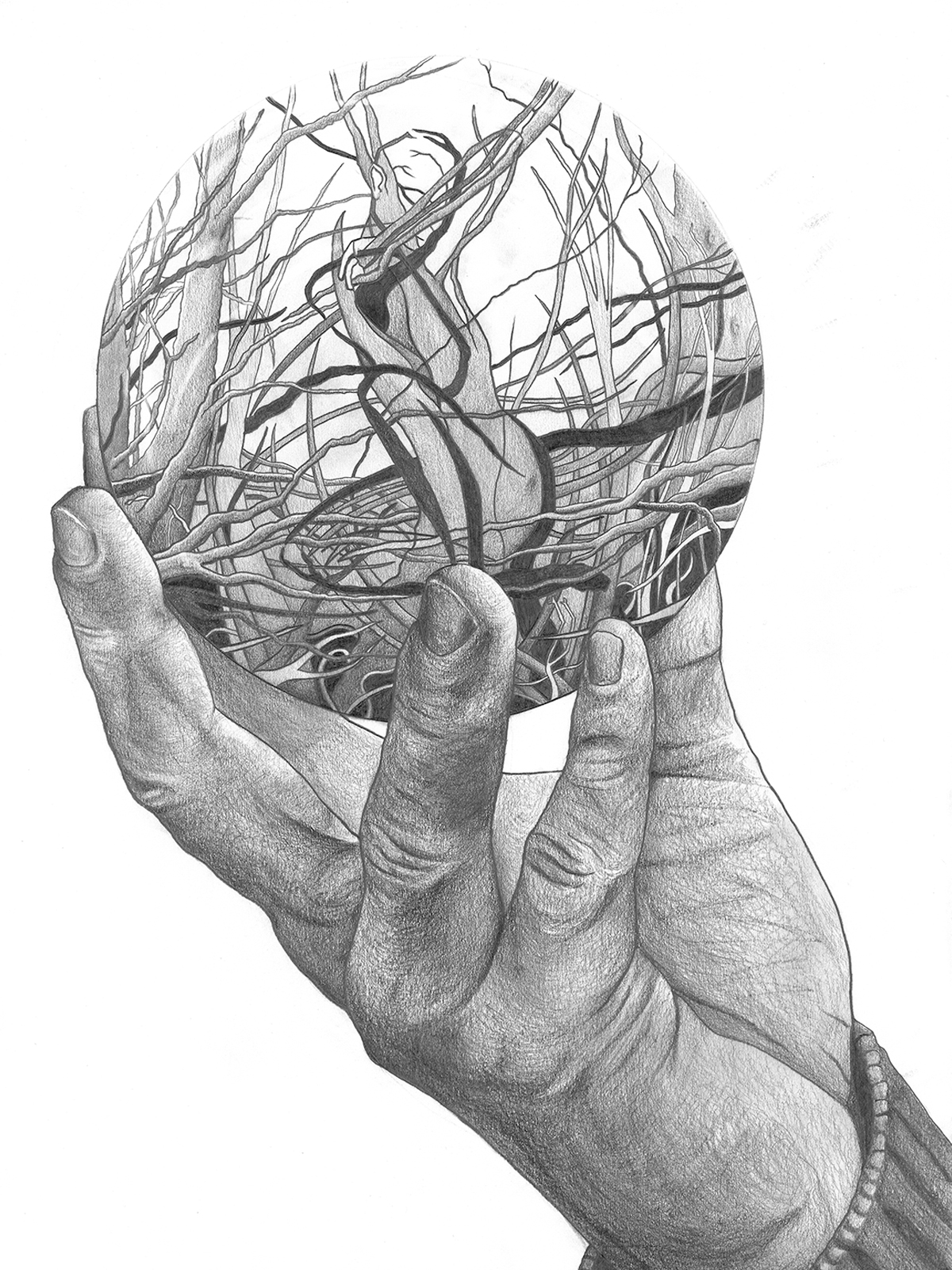 Drawings - intricate pencil drawings from London based artist Paul Kingsley Squire