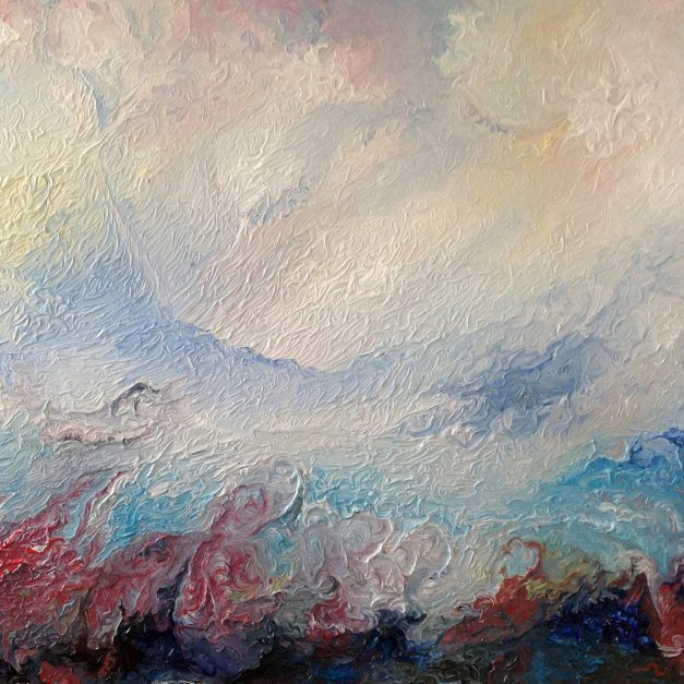 The Gathering Storm abstract oil on canvas painting by Paul Squire
