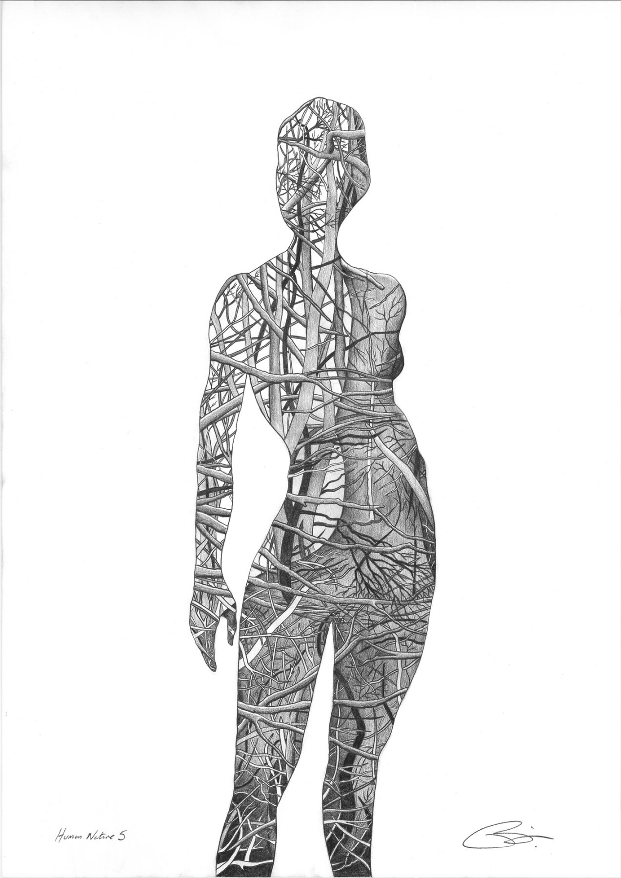 Human Nature 5 | Pencil on 200gsm paper | 42 x 59.4 cm