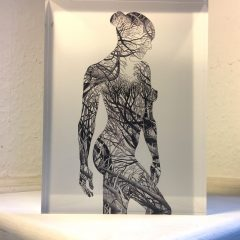 Human Nature 7 - print on acrylic glass block