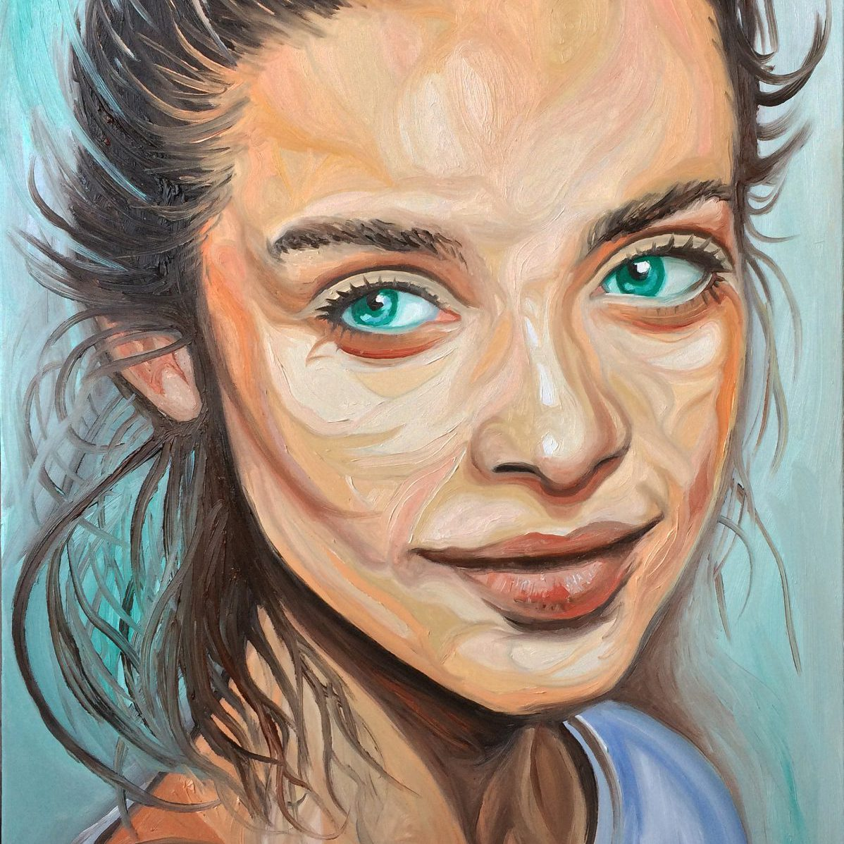 Head of a woman | Oil on canvas | 60 x 90 cm