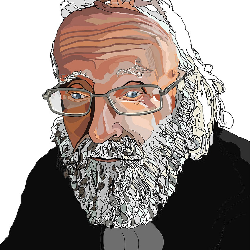 Modern Portrait (digital) of the Artists Father and Journalist Kingsley Squire