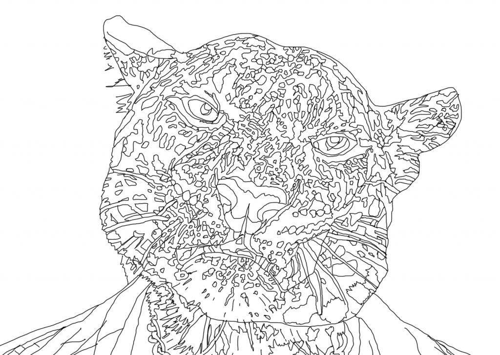 The Word on the Street - digital 'hand drawn' line drawing (work in progress)