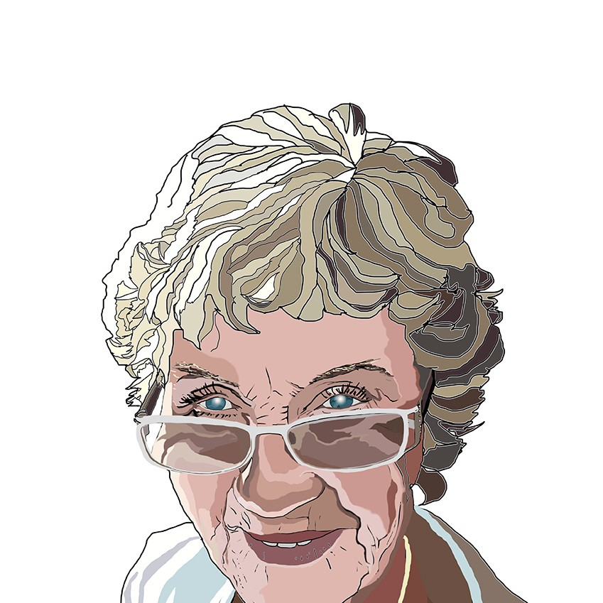 Modern Portrait (digital) of the Artists Mother and Singer Monica Squire