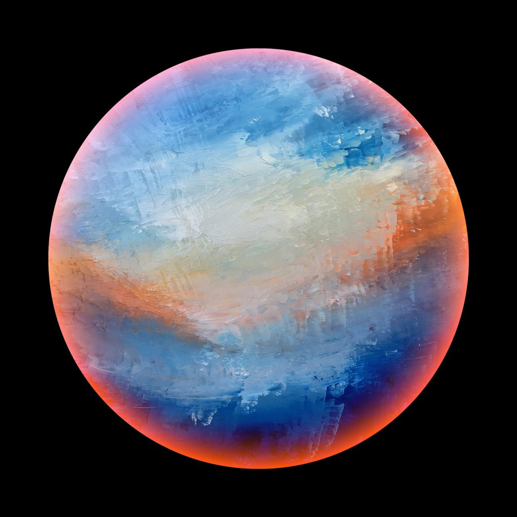 Odyssia planet - from the Aether Worlds series of digital prints