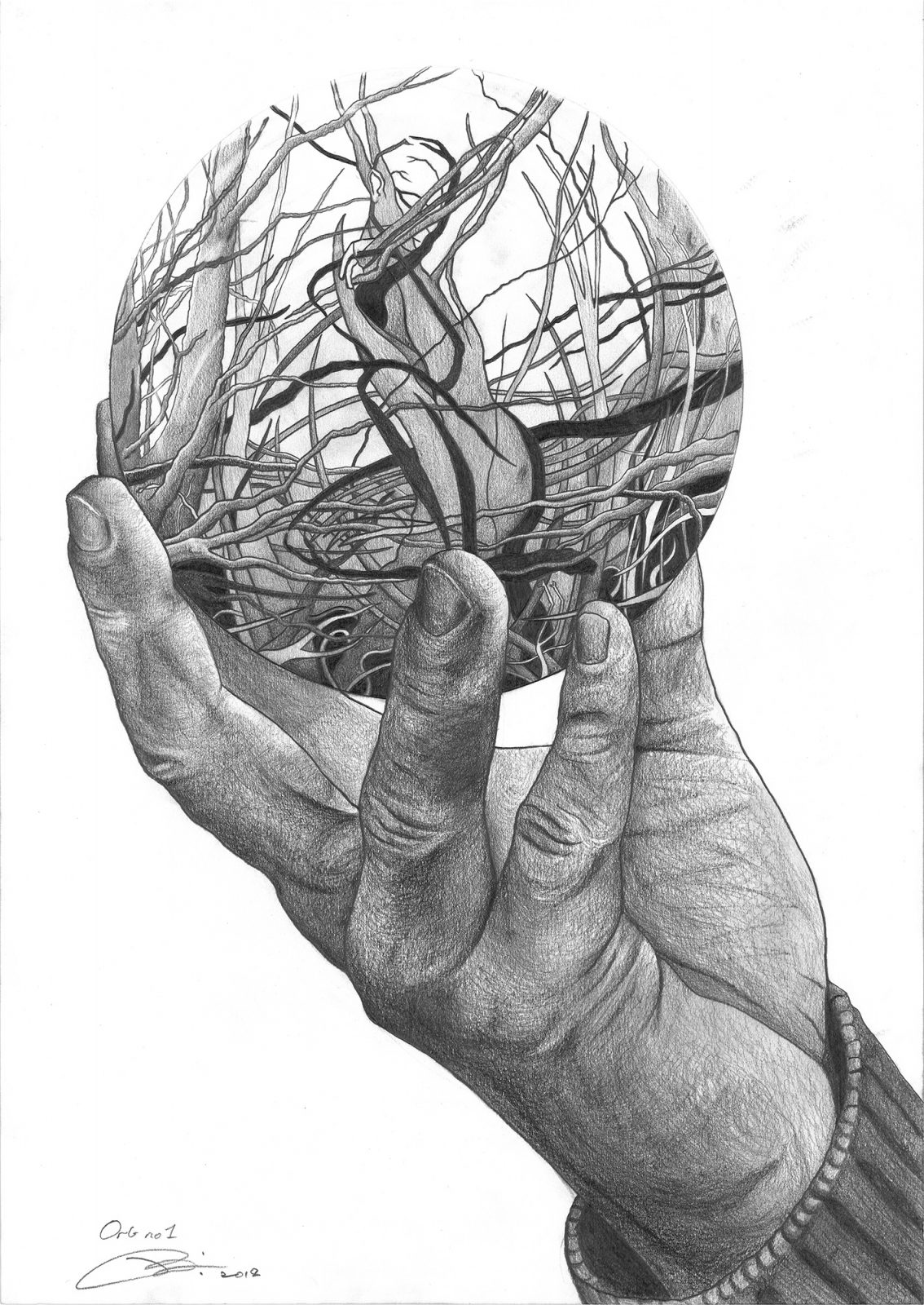 Orb 1 | Pencil on 200gsm paper | 42 x 59.4 cm