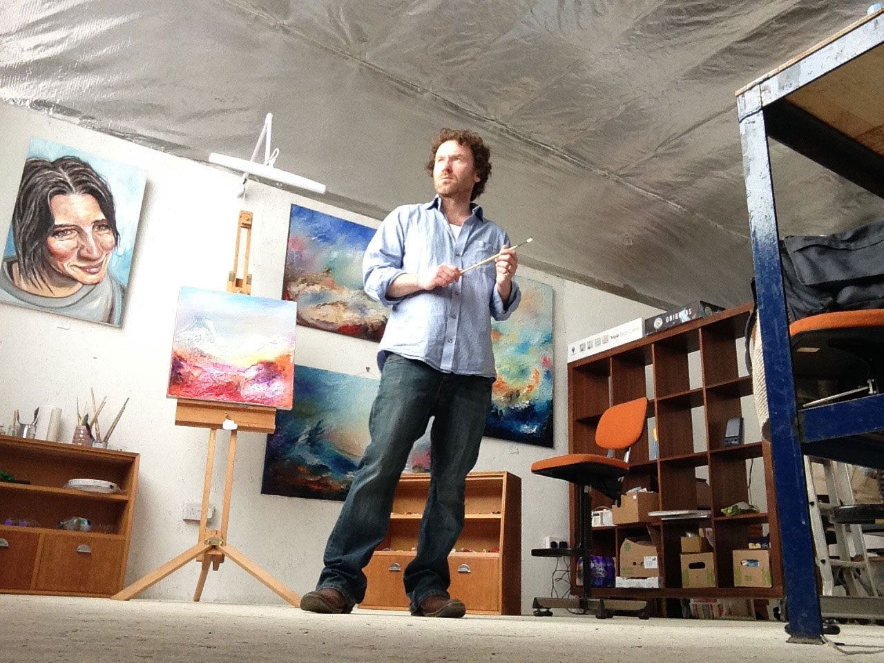 Paul Kingsley Squire in North London Artist Studio