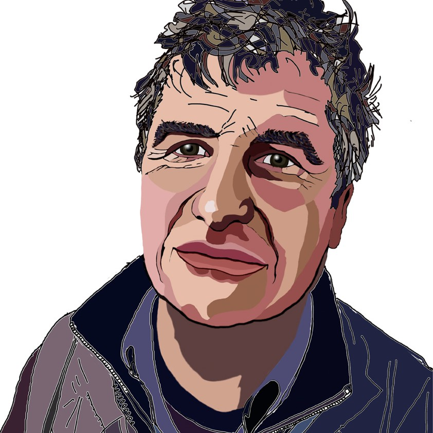 Modern Portrait (digital) of the Radio Producer and Journalist Phil Jones