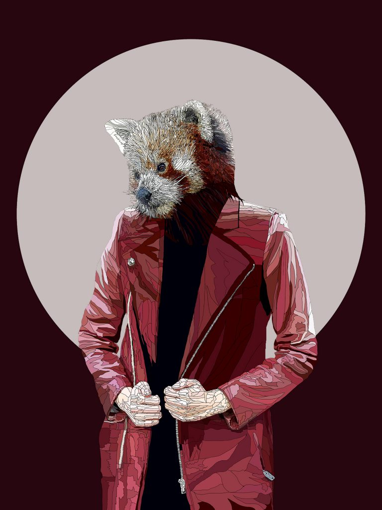 All Tomorrow's Parties - Anthropomorphic art featuring a Red Panda human hybrid