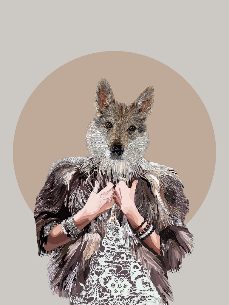 Rise of the She Wolf - Digital artwork from the Metamorphica series by Paul Kingsley Squire