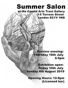 Summer Salon at the Candid Galleries, Islington, London, July 2019