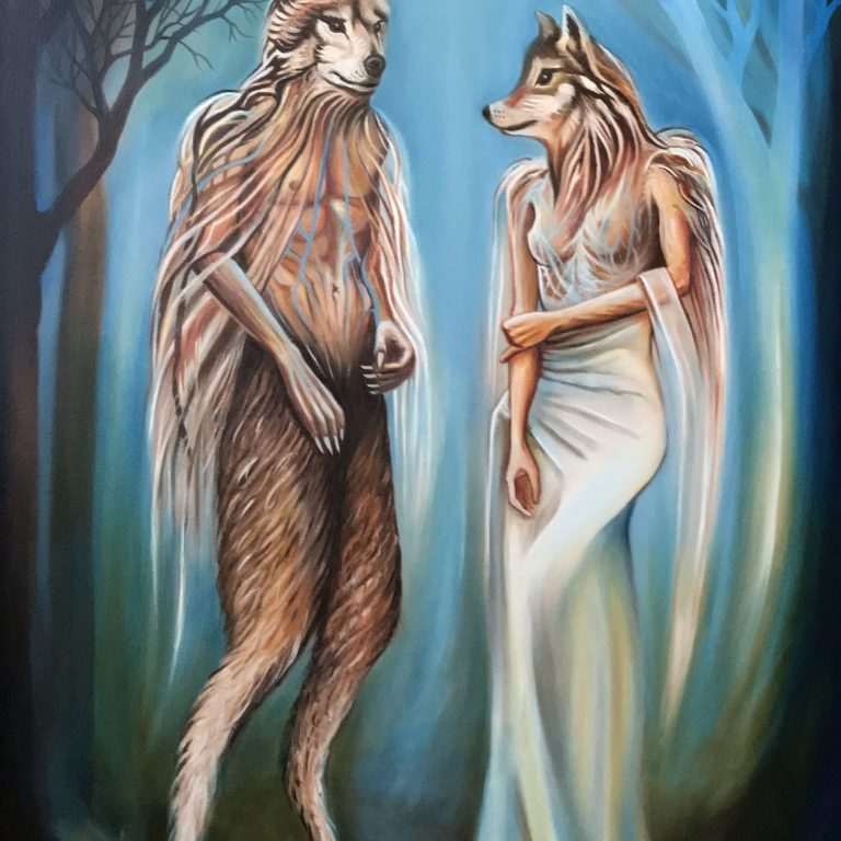 The Wolves | Oil on canvas | 76 x 122 cm | 2020