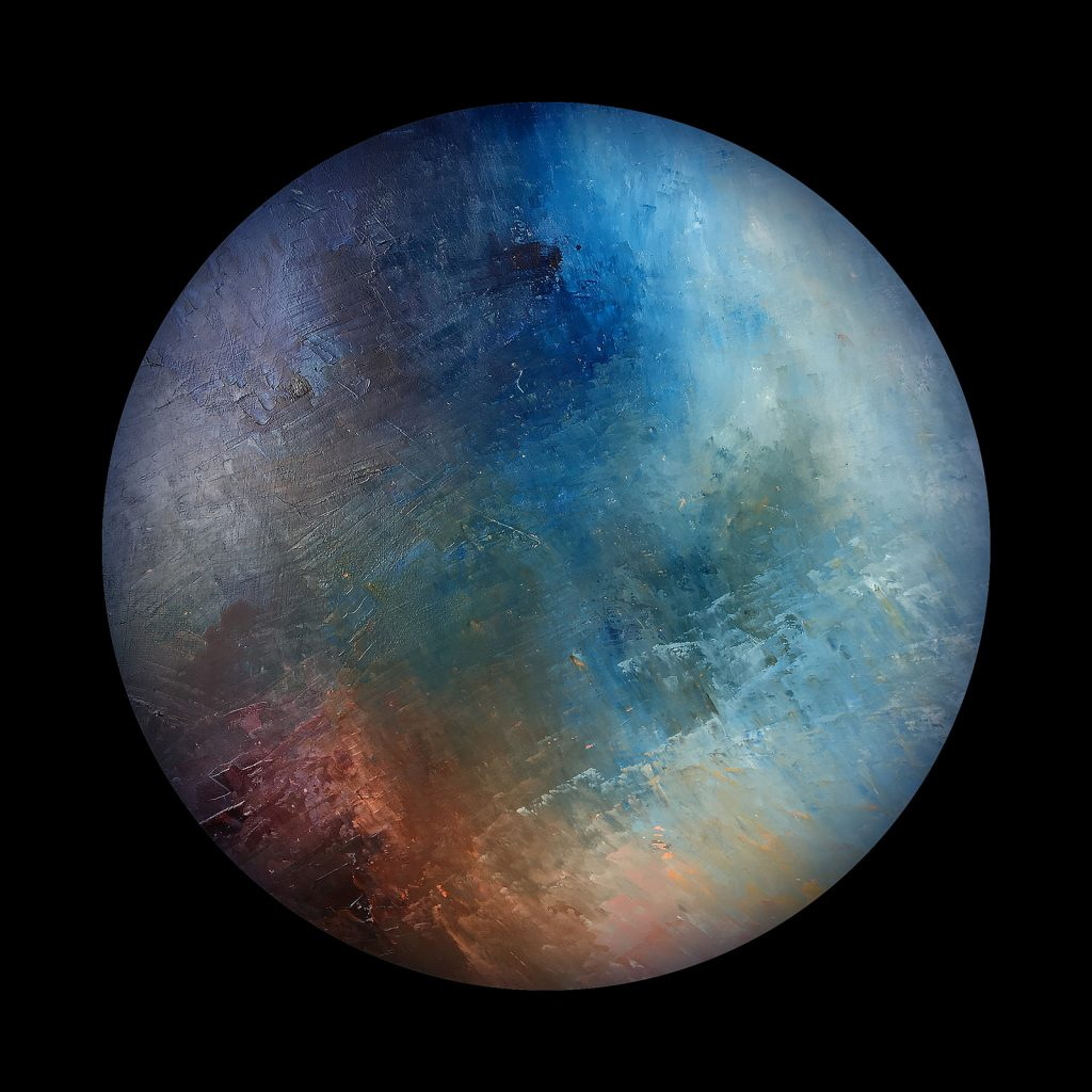 Zephyria planet - from the Aether Worlds series of digital prints