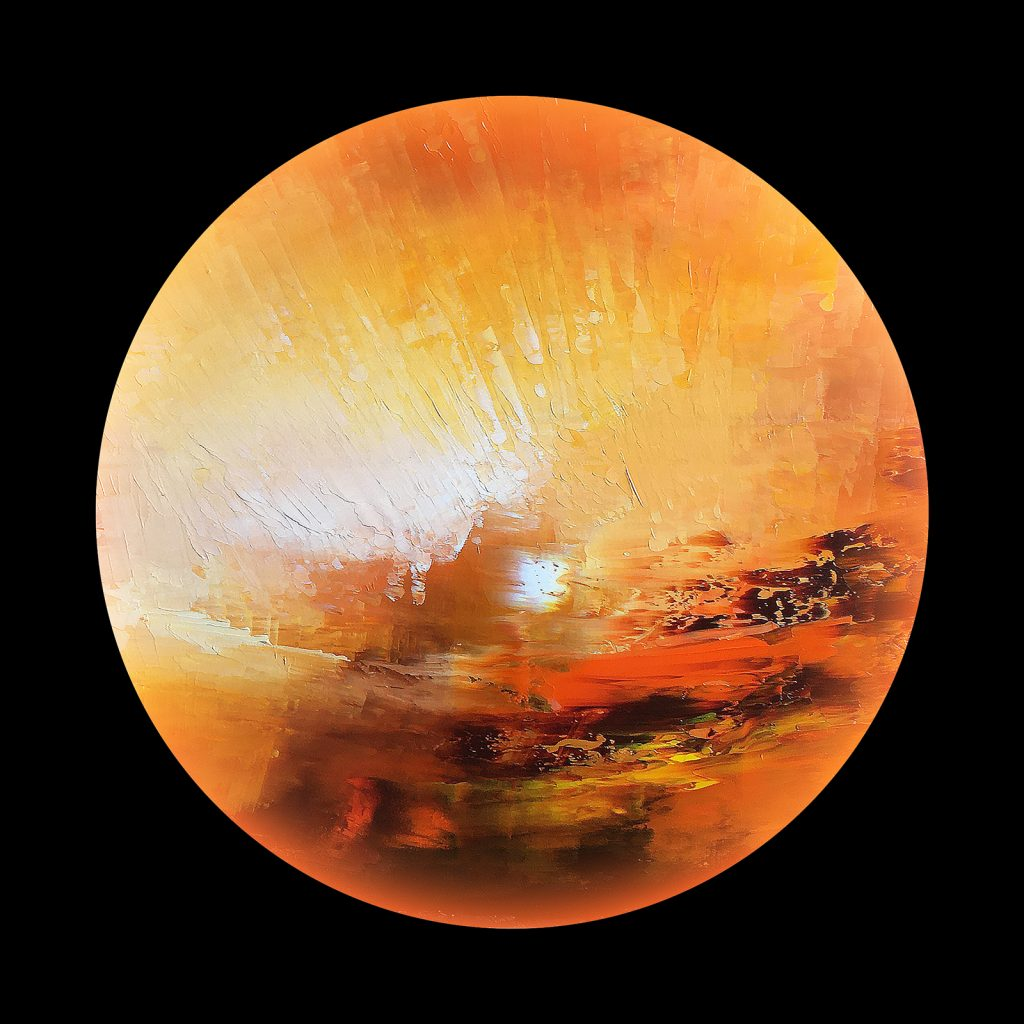 Vulcania planet - from the Aether Worlds series of digital prints